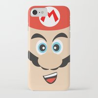 mario bros iPhone & iPod Cases featuring Super Mario Bros NES by JAGraphic