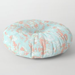 abstract geometric colorful paisley pattern modern traditional pattern Floor Pillow