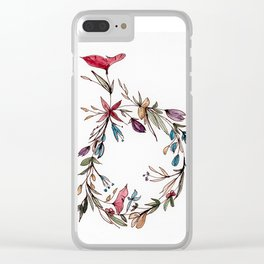 Floral Wreath Clear iPhone Case