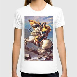 Jacques-Louis David - Napoleon crossing the Alps - Digital Remastered Edition T-shirt