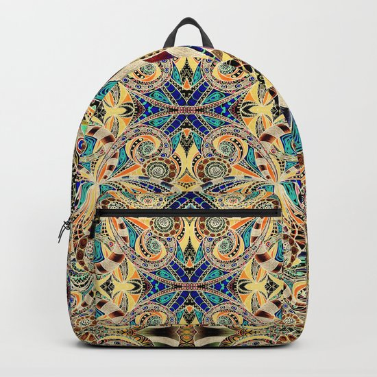 Drawing Floral Zentangle G240 Backpack