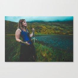 Lady & The Loch Canvas Print