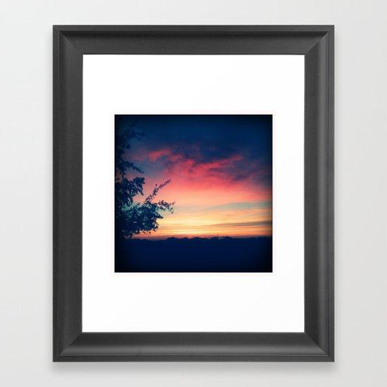 An Arizona Sunset Framed Art Print