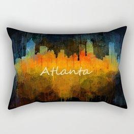 Atlanta City Skyline UHq v4 Rectangular Pillow