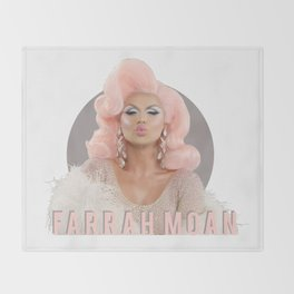 Farrah Moan - circle Throw Blanket