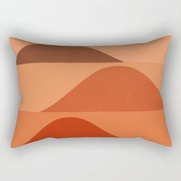 Abstraction_Mountains_Minimalism_Layers_001 Rectangular Pillow