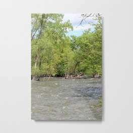 Springtime on the Fox River Vertical Metal Print