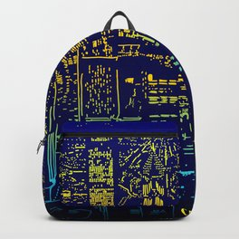 Chicago city lights at night Backpack