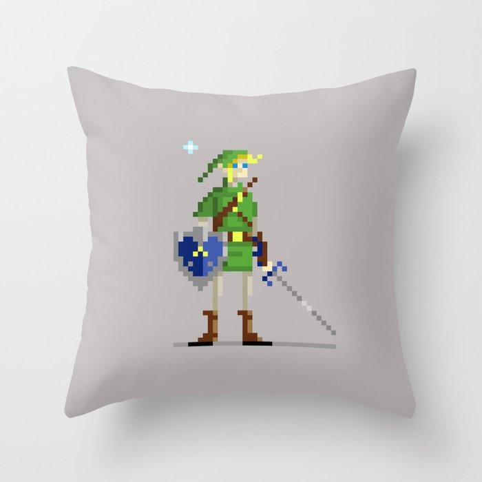 Pixel Link Throw Pillow