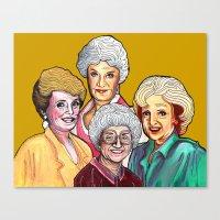 golden girls Canvas Prints featuring Golden Girls by Minerva Torres-Guzman