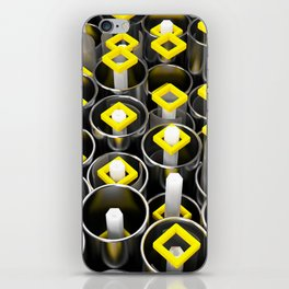 Metal tubes, hexagons and glass iPhone Skin