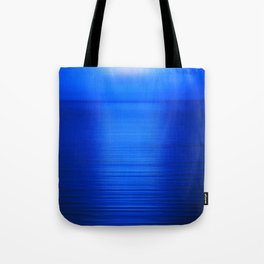 Sunset on the Water-Deep Blue Tote Bag