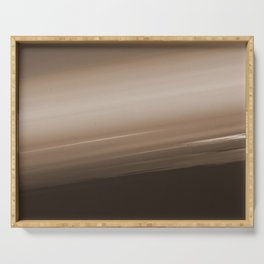 Sepia Brown Ombre Serving Tray