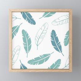 Feathers Pattern Framed Mini Art Print