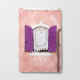 CAORLE WINDOW Metal Print