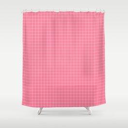 Math Homework Cute Pink Checkered Shower Curtain