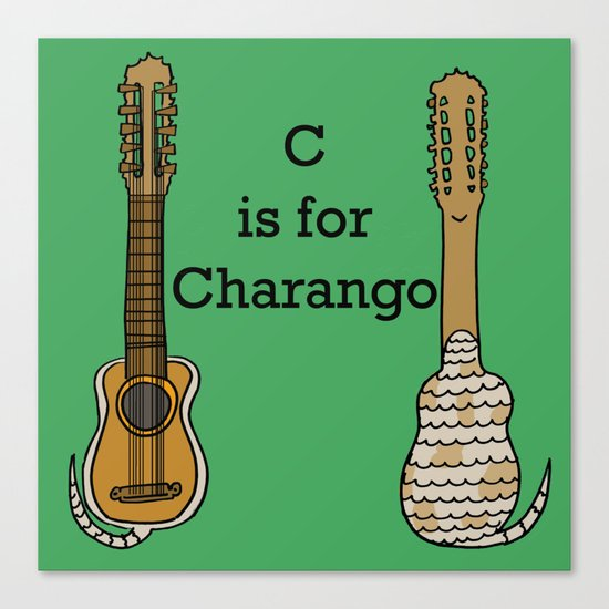 C is for Charango Canvas Print