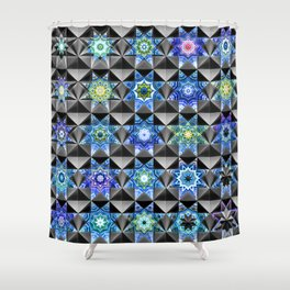 Composite Girih Shower Curtain