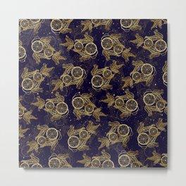 Pretty Dreamcatcher faux gold metal pattern Metal Print