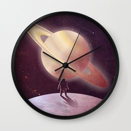 A View From Enceladus Wall Clock