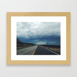 New Mexico back road Framed Art Print