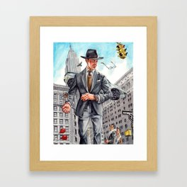To obsess over watches and coffee in NYC Framed Art Print