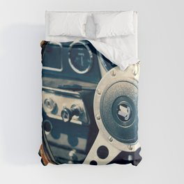Old Triumph Wheel / Classic Cars Photography Duvet Cover