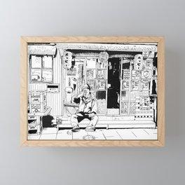 tokyo drinker Framed Mini Art Print