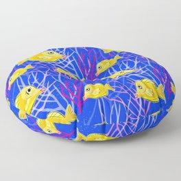 Tropical Fish Tank Floor Pillow
