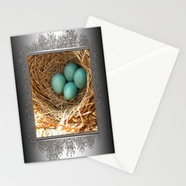 Four American Robin Eggs Stationery Cards