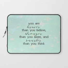 Braver Stronger Smarter Laptop Sleeve