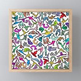 Bodies, Figures, Karate, Rainbow Framed Mini Art Print