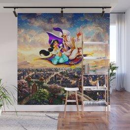 jasmine aladdin flying carpet Wall Mural