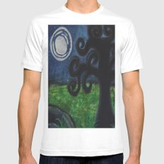 Moon Glow Mens Fitted Tee White MEDIUM
