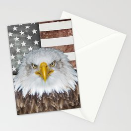 American Bald Eagle Patriot Stationery Cards