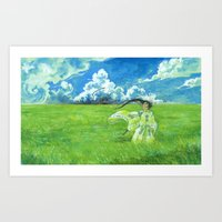 August - Indication of rain - Art Print