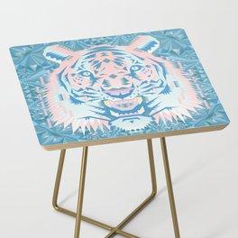 Pastel Quartz Tiger Side Table