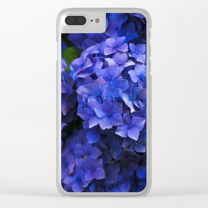 Hortensia Clear iPhone Case