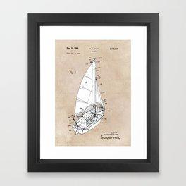 patent art Court Sailboat 1964 Framed Art Print