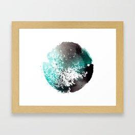 watercolor moon Framed Art Print