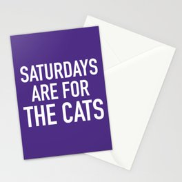 Saturdays are for the Cats Stationery Cards