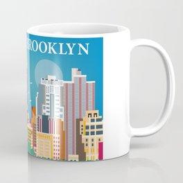 Brooklyn, New York - Skyline Illustration by Loose Petals Coffee Mug