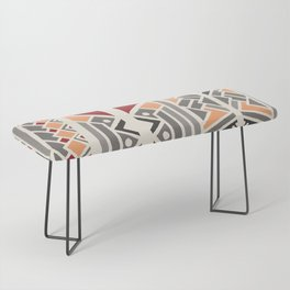 Tribal ethnic geometric pattern 034 Bench