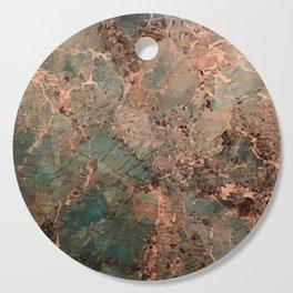 Marble Emerald Copper Blue Green Cutting Board