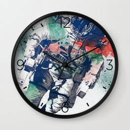 Clavius: RGB | lonely astronaut in the space Wall Clock