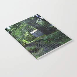 cabin in the woods with steps Notebook