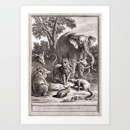 Le lion s'en allant en guerre Art Print
