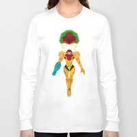 metroid Long Sleeve T-shirts featuring Metroid by A Strom