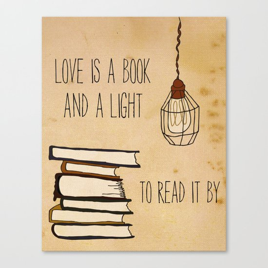 Love Is A Book Canvas Print