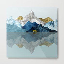 Into The Wild North Blues Metal Print